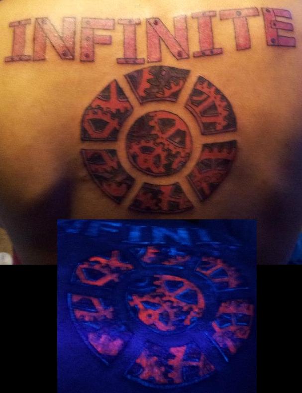 Steampunk Gears Blacklight Tattoo