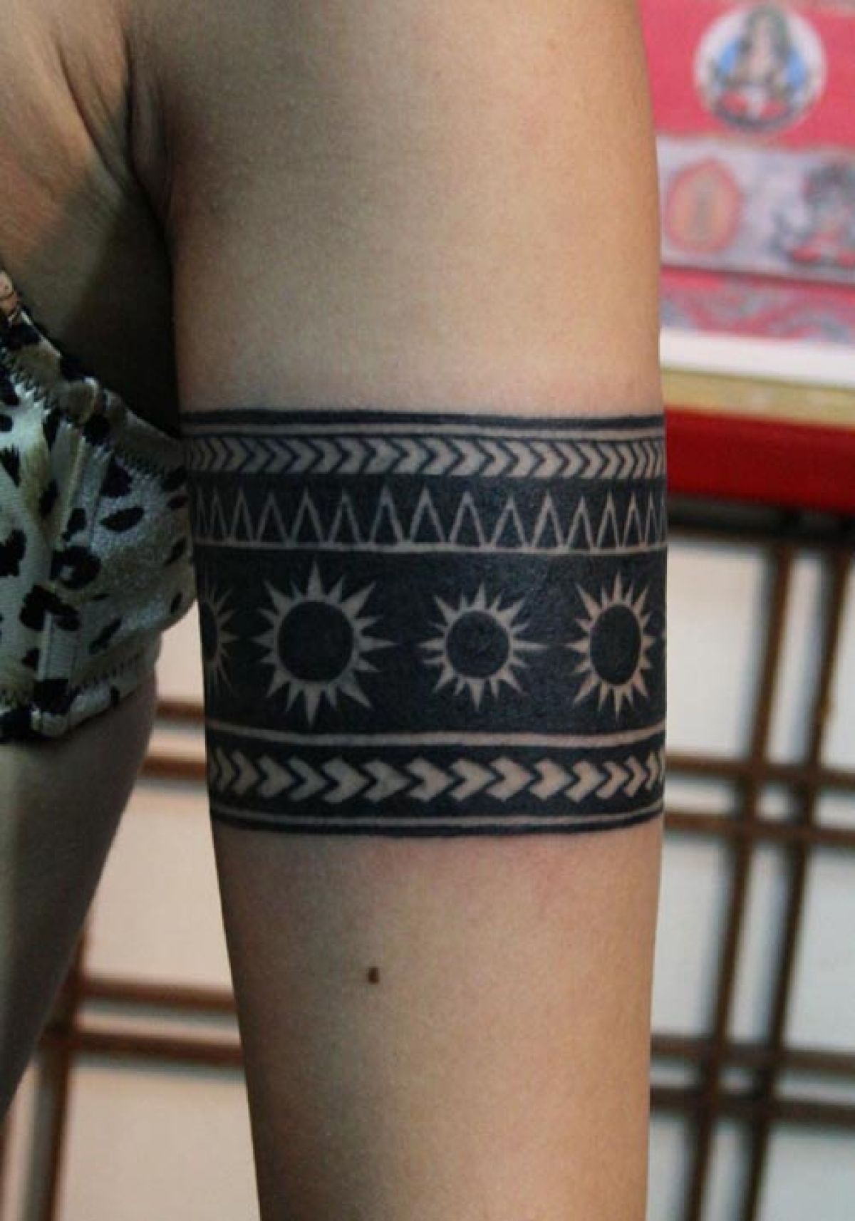 Black Ink Armband Tattoo Design