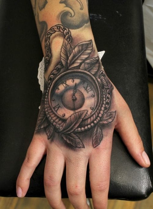 pocket watch tattoo images designs. Black Bedroom Furniture Sets. Home Design Ideas