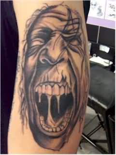 Crawling Monster Tattoo on Arm