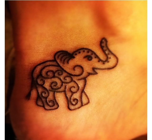 Elephant tattoo images designs for Cute baby tattoos