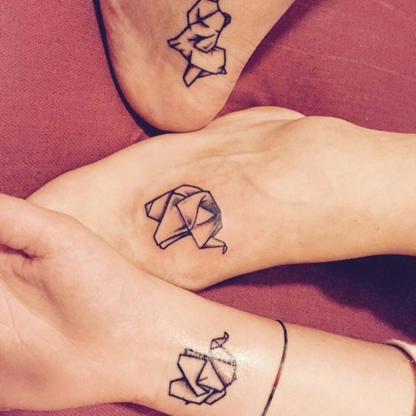Elephant Symbol Friendship Tattoos