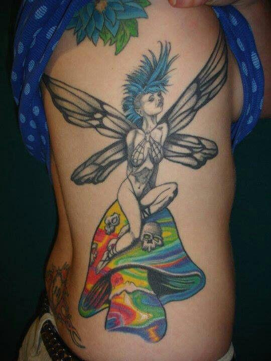 Mushroom tattoo images designs for Skull fairy tattoos