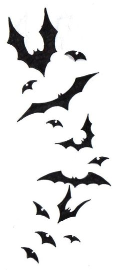 Flying Black Bat Tattoos Designs