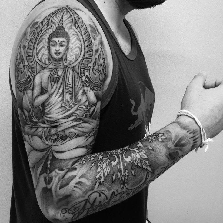 Buddhist Half Sleeve Tattoo: Buddha Tattoo Images & Designs