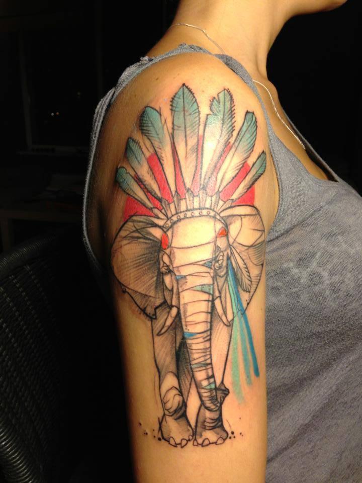Elephant Tattoo Images...