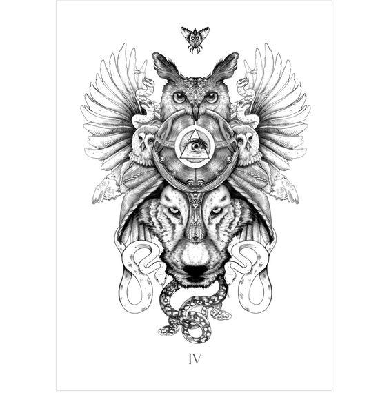 Mandala Animal Tattoo Designs