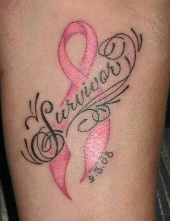 Memorial Cancer Survivor Tattoo On Leg