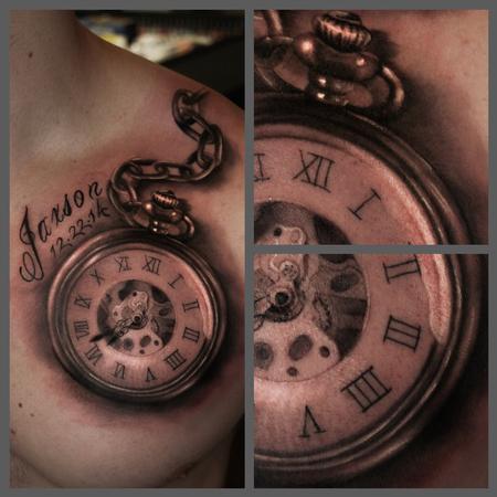 Pocket Watch Tattoo Images & Designs Vintage Flower Tattoo Sleeve