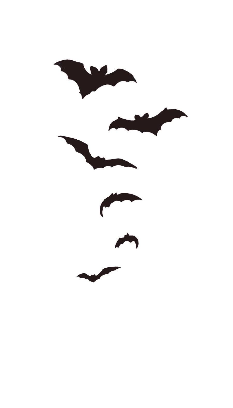 Nice Black Bats Tattoos Design