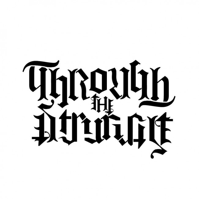 Through The Struggle Abigram Tattoo Design Sample