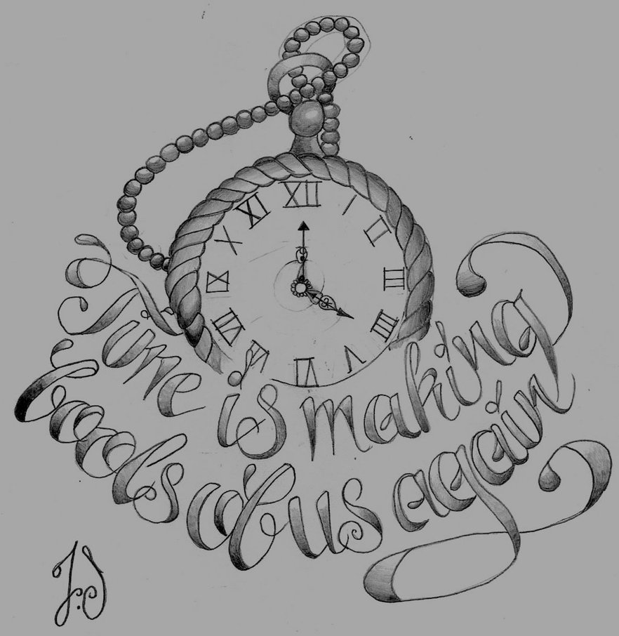 Pocket Watch Tattoo Images & Designs