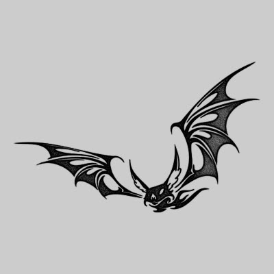 Tribal Bat Tattoo Design