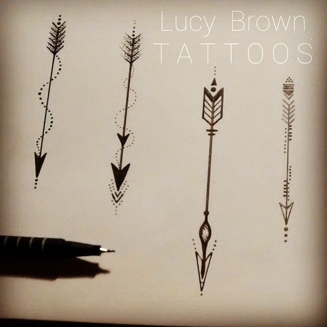 Viking Arrow Tattoo Designs by Lucky Brown
