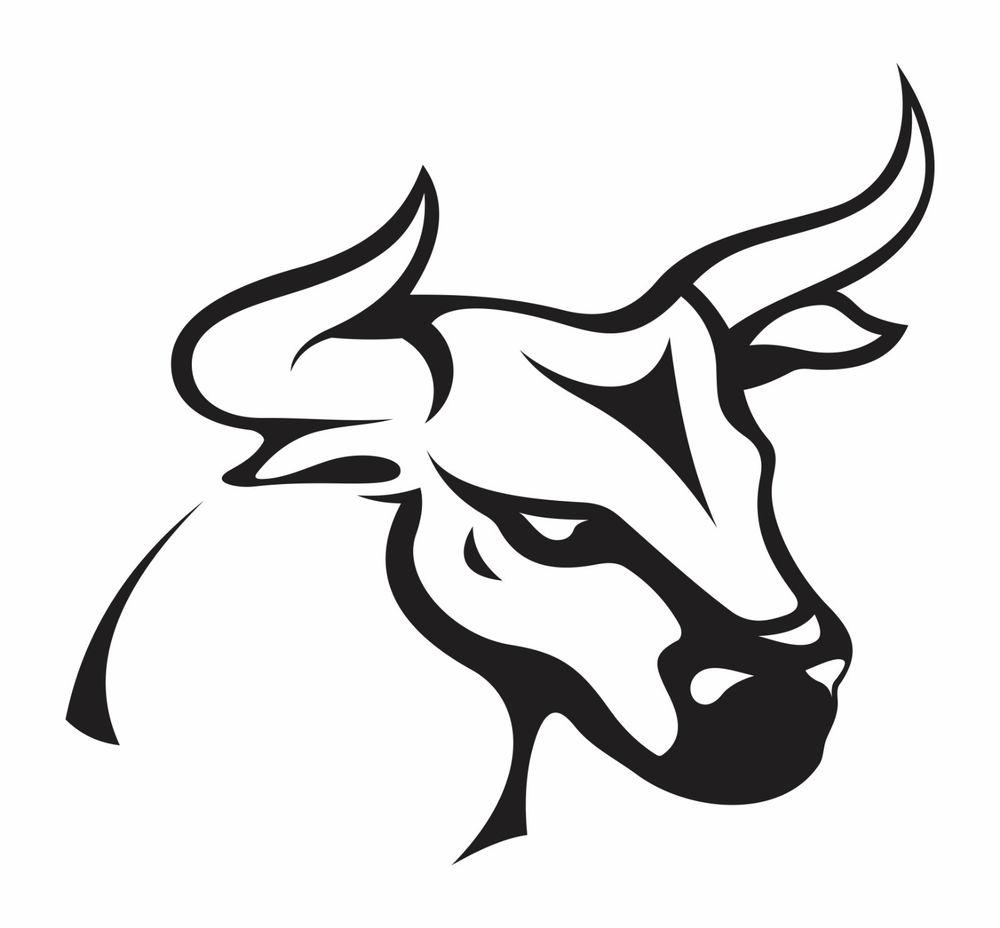 Bike stickers design joker - Attractive Bull Tattoo Design