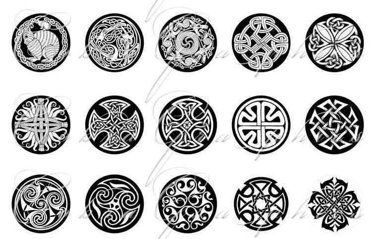 100 circular tribal tattoos designs for temporary tattoo large large pattern paper supply. Black Bedroom Furniture Sets. Home Design Ideas