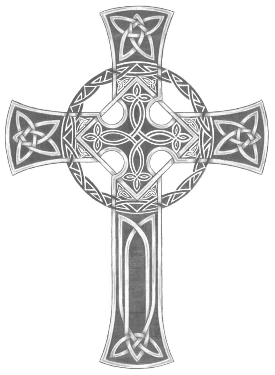 Awesome Celtic Cross Tattoo Design