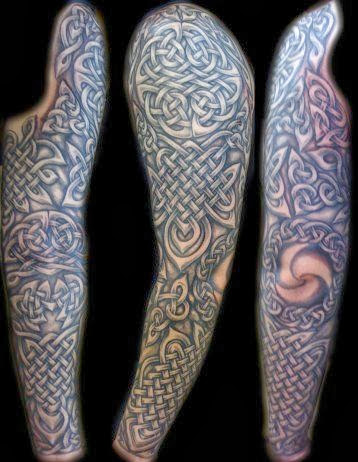 Awesome Celtic Full Sleeve Tattoo