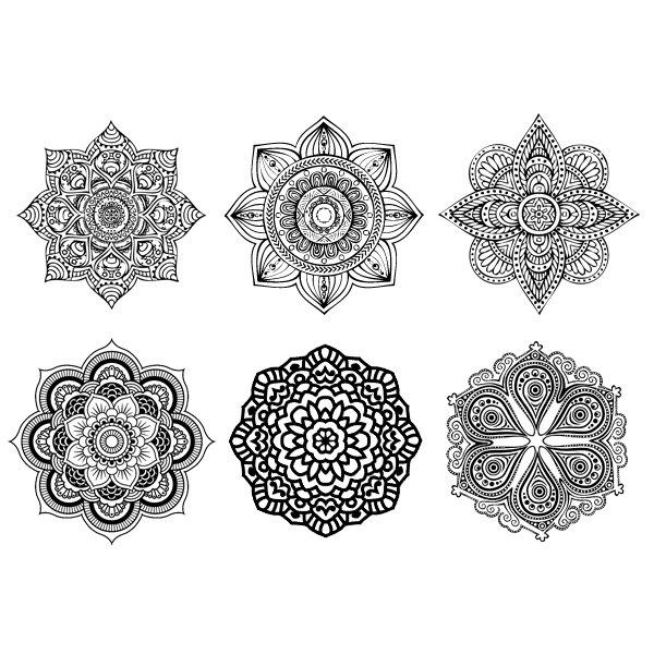 Awesome Mandala Temporary Tattoos Design Set