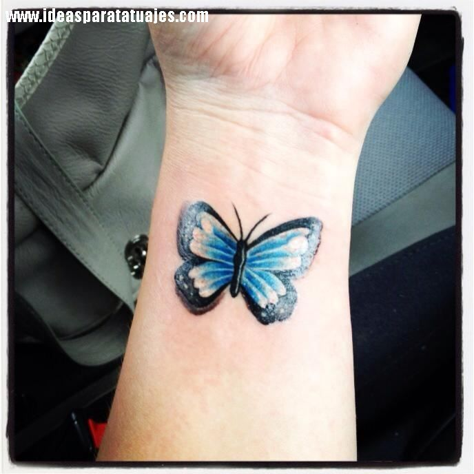 Beautiful Butterfly Tattoo On Wrist