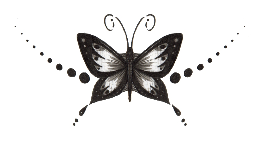 bf97926df Black And White Butterfly Tattoo Stencil