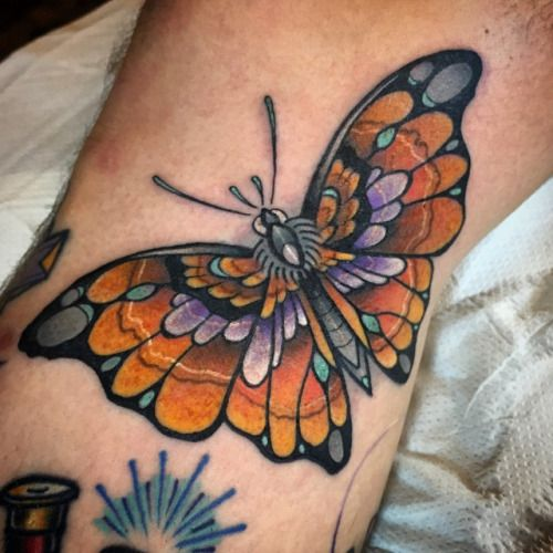 Butterfly Traditional Tattoo