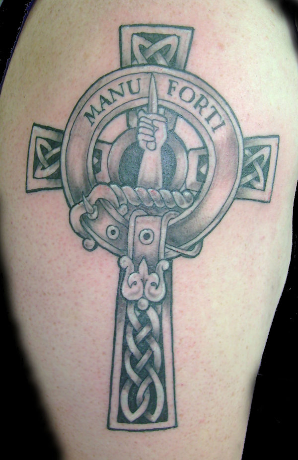 Celtic Cross Clan Badge Tattoo By Hellcatmolly