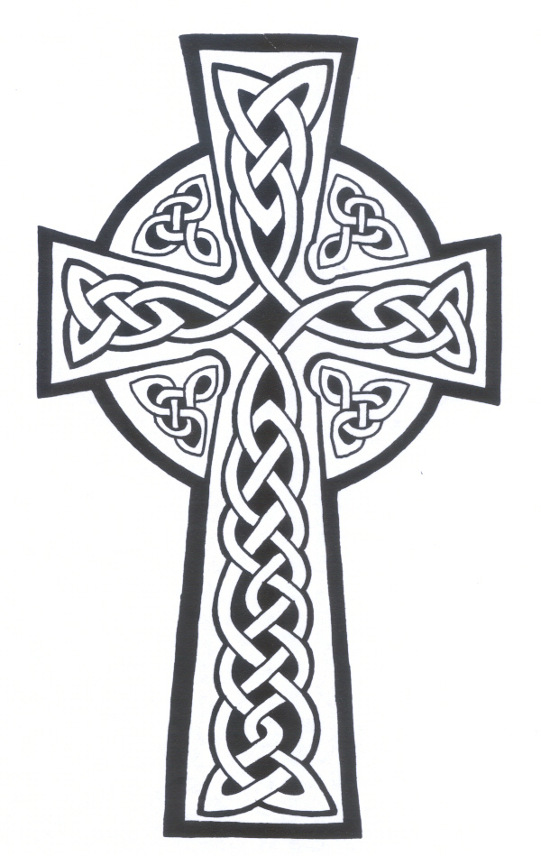 Celtic On Cross Tattoo Design