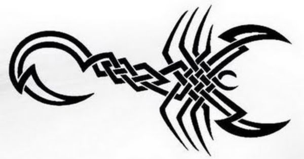 Celtic Tribal Scorpion Tattoo Design