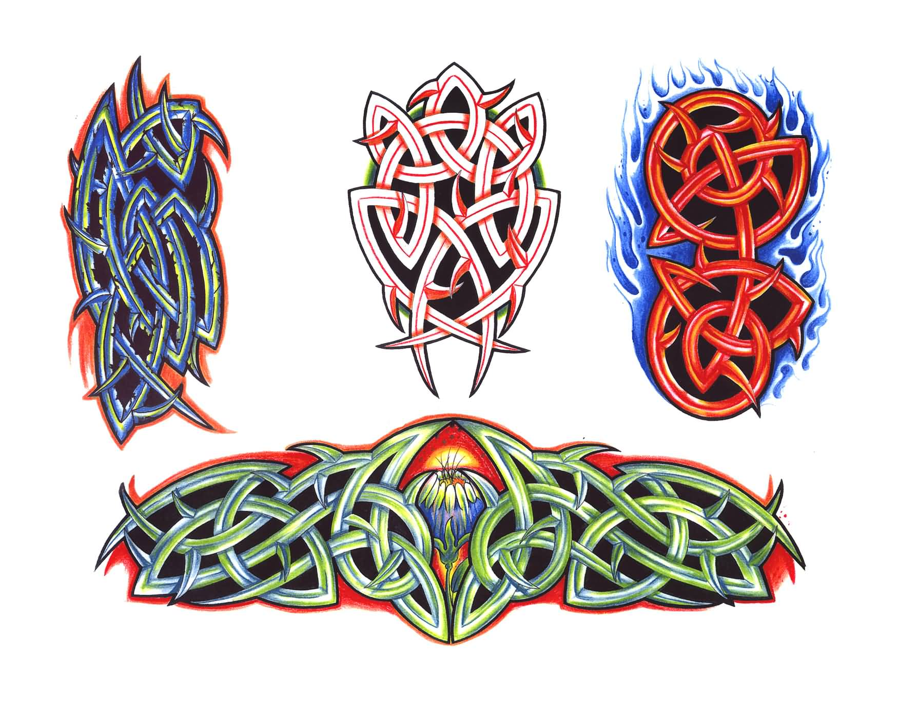 Colorful Celtic Tattoo Designs
