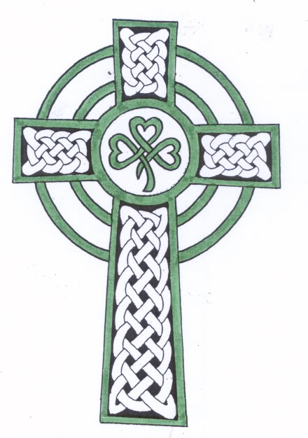 Cool Irish Celtic Cross Tattoo Design