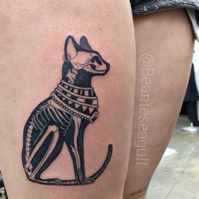 Egyptian Cat X Ray Tattoo By Sean Arnold Of Alchemy