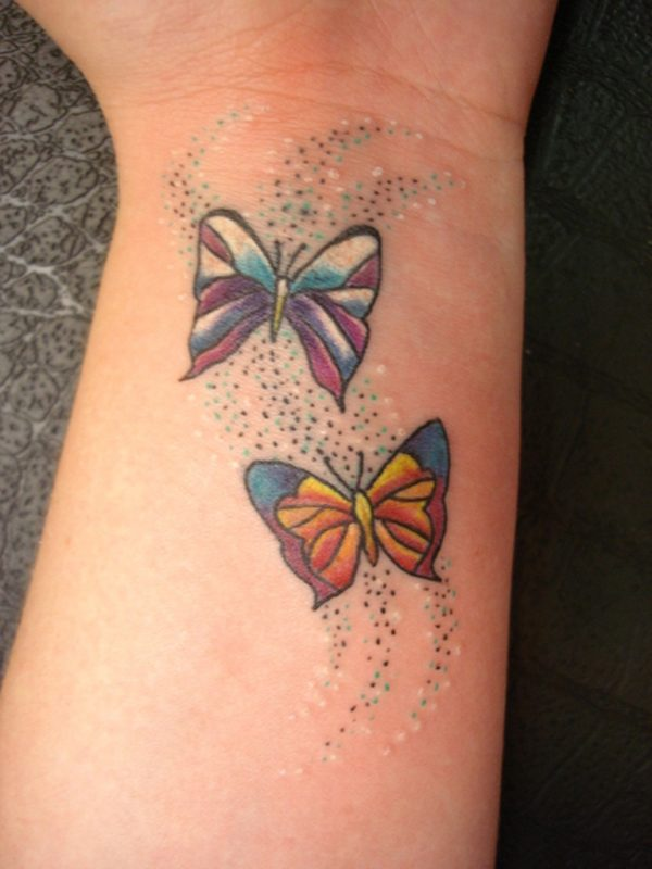 Impressive Butterflies Tattoo On Wrist