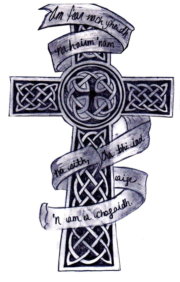 Irish Celtic Cross Tattoo Design By Kkbaby101