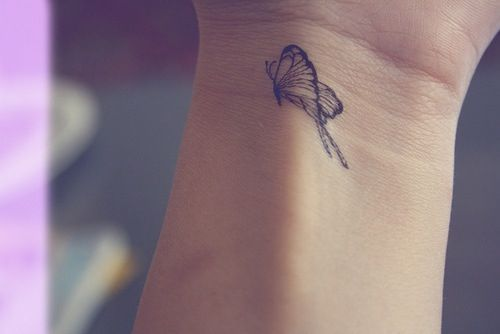 Mini Butterfly Tattoo On Wrist