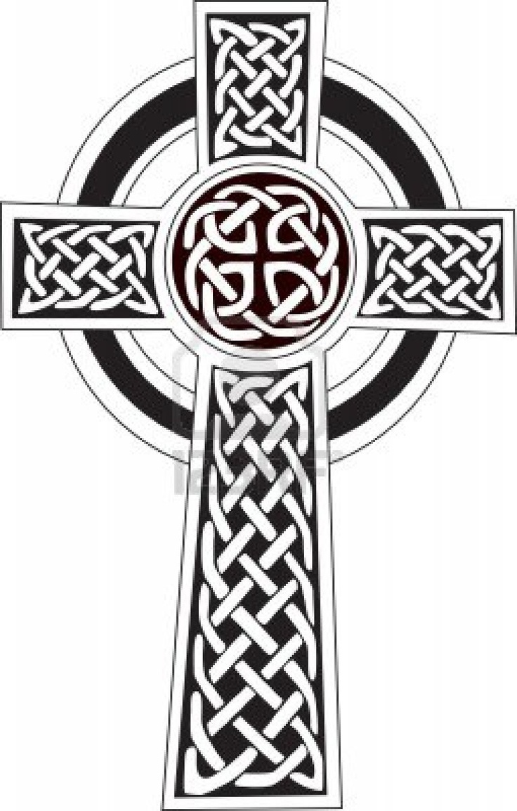 Nice Celtic Cross Circle Tattoo Design
