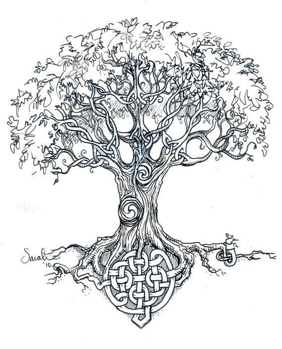 Nice Celtic Tree Knots Tattoo Design