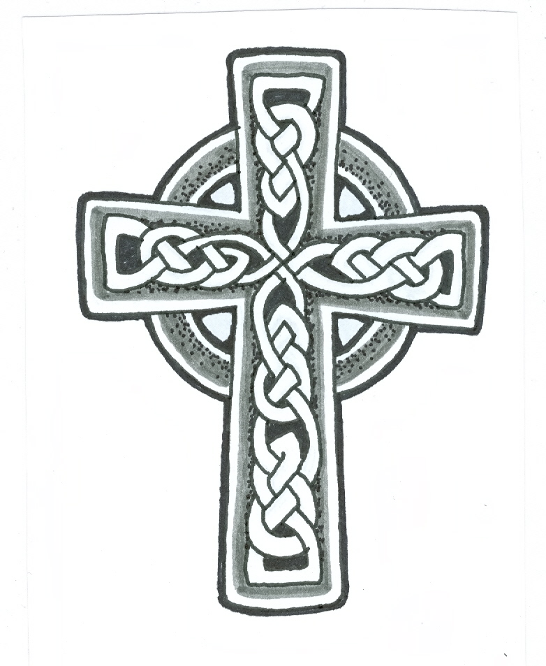 Nice Irish Celtic Cross Tattoo Design