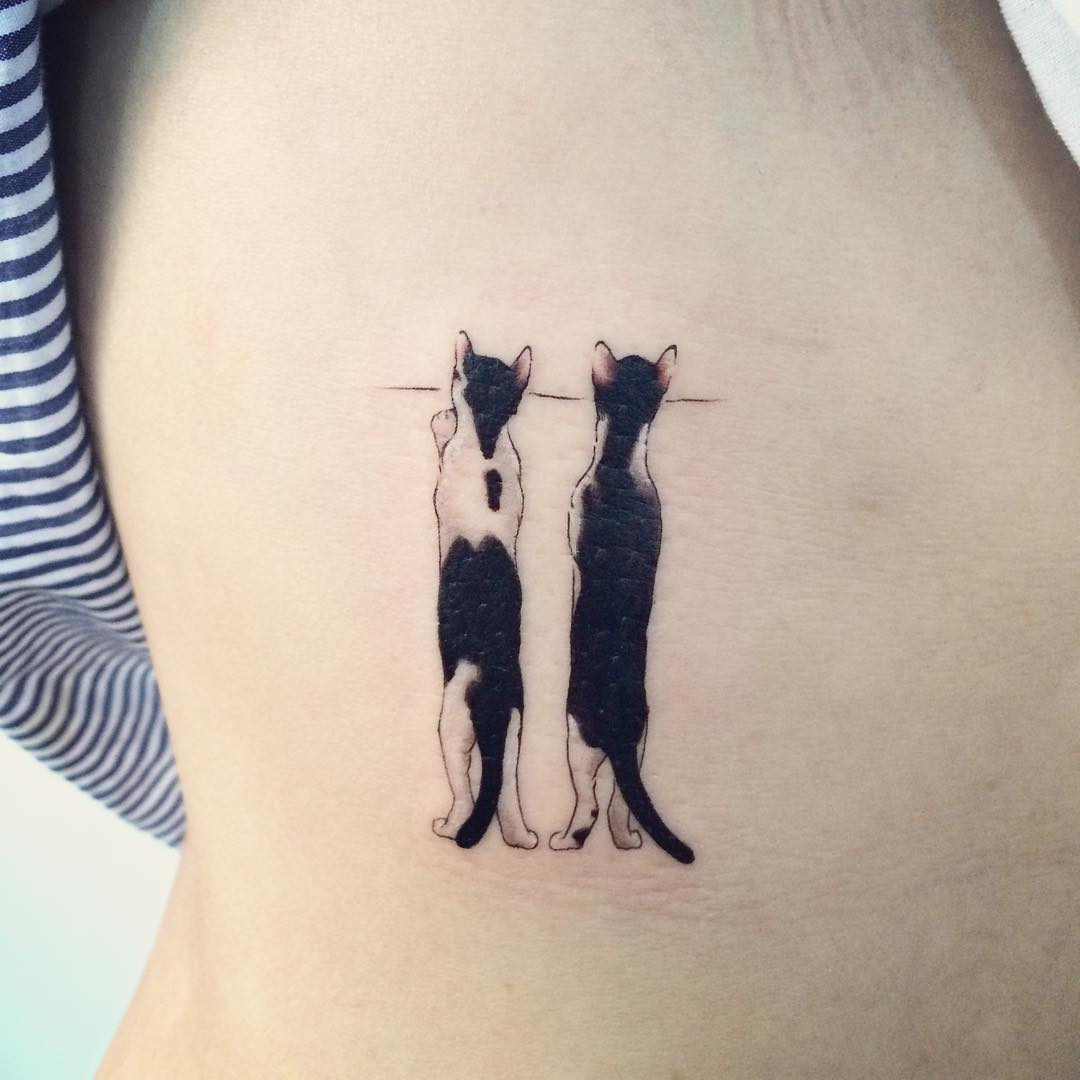 Nice Watching Cats Tattoo