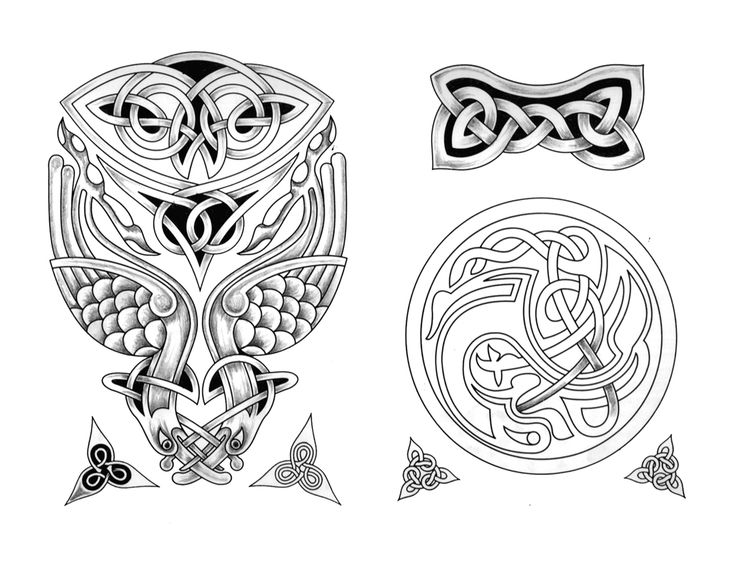 Outstanding Celtic Tattoo Designs Set
