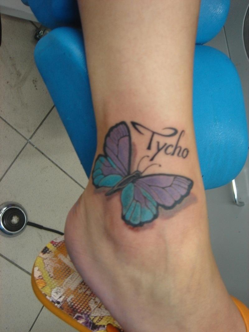 Realistic Tycho Butterfly Tattoo