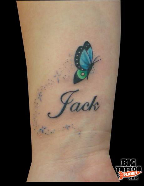 Remembrance Butterfly Tattoo On Wrist