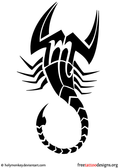 Scorpion Tribal Symbol Tattoo Design