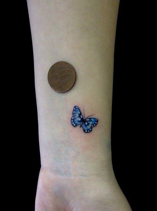 Smallest Butterfly Tattoo On Wrist