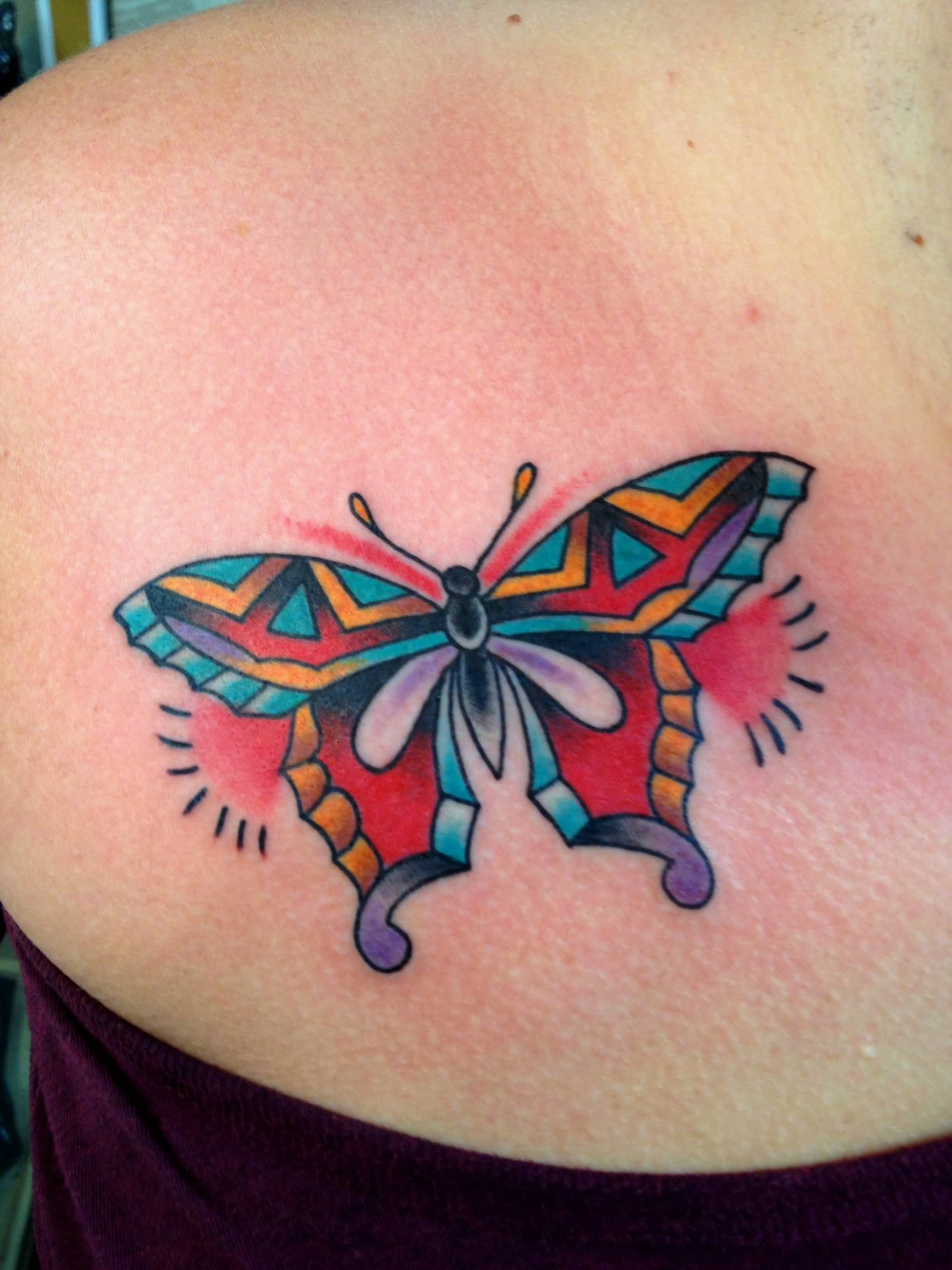 Traditional Butterfly Tattoo For Women