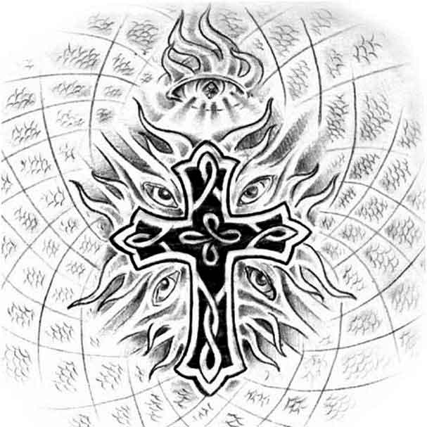 Unique Celtic Cross Tattoo Drawing By Dark Dragon Lord774
