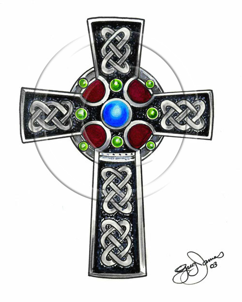 Wonderful Celtic Cross Tattoo Design