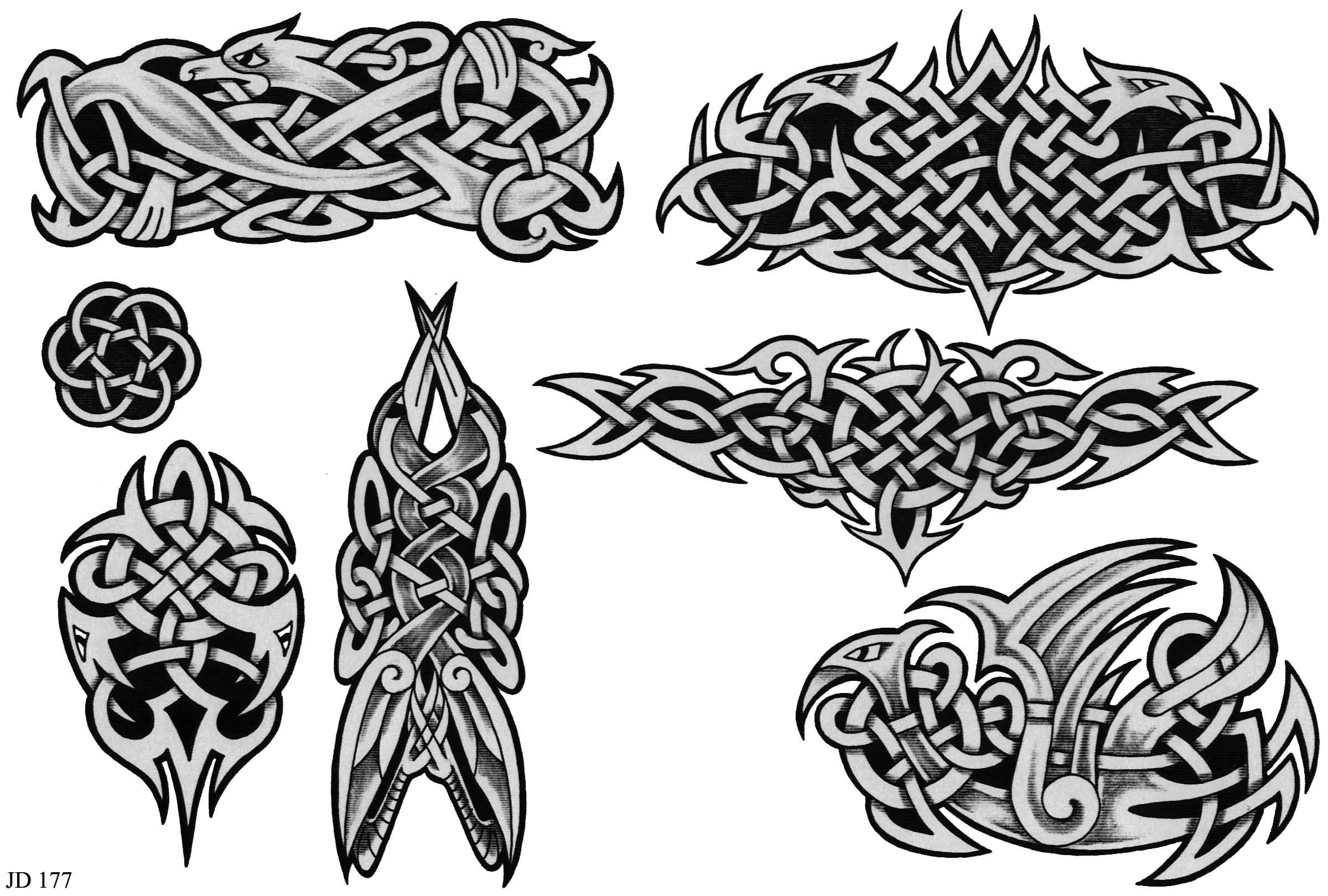 Wonderful Grey Celtic Tattoo Designs