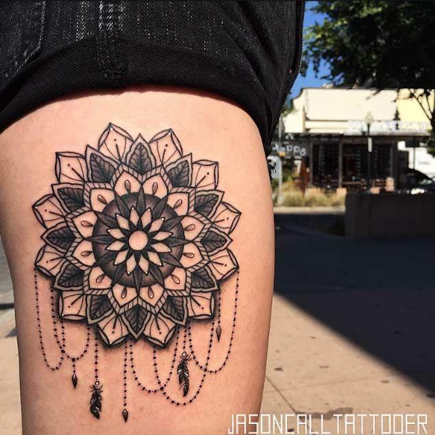 30 Mandala Tattoos On Thigh