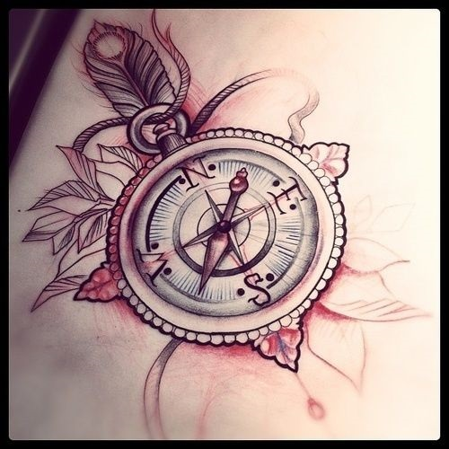 50 Beautiful Compass Tattoo Designs And Meanings: Compass Tattoo Images & Designs